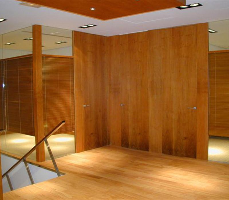 Cortinas venecianas de madera