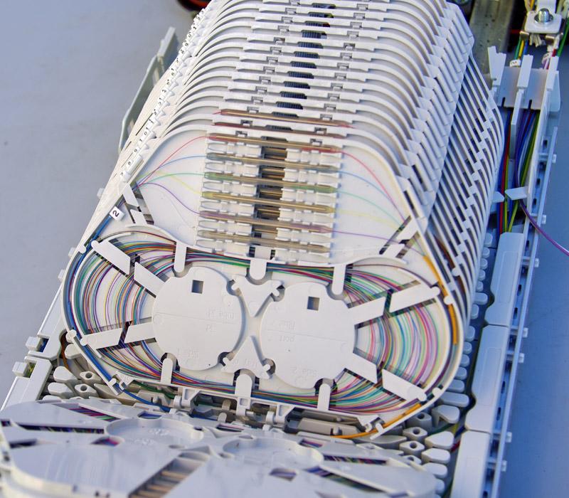 Instalación de fibra óptica