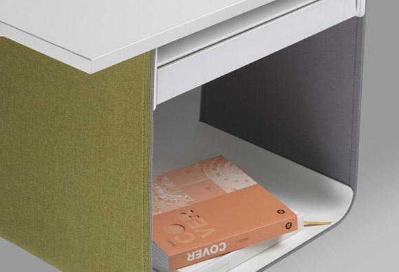 BACKPACK, accesorio versátil que permite organizar tu entorno de trabajo. Acabado textil en una amplia gama de colores y disponible en 5 variantes